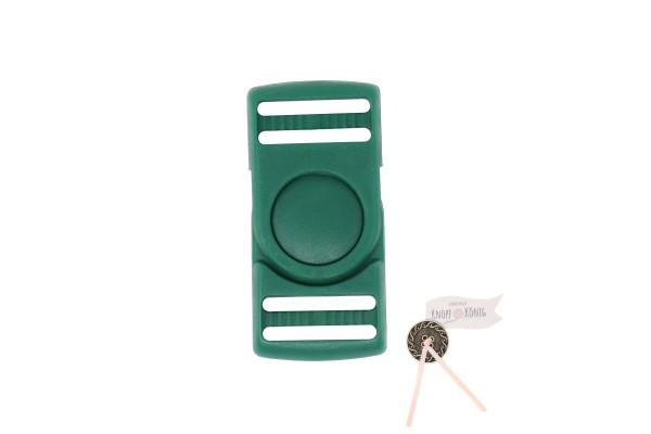 Steckschnalle dunkelgrün, 25mm drehbar
