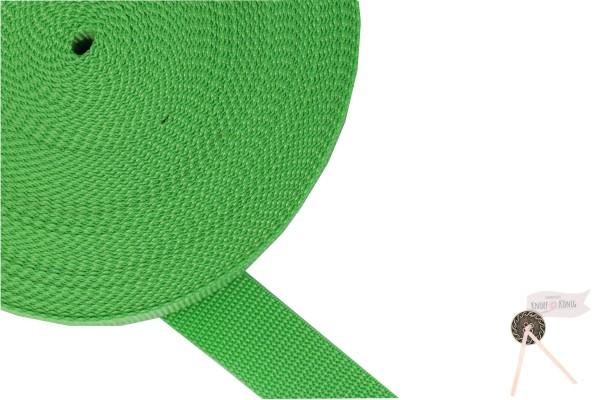 Gurtband Nylon grün, 30mm