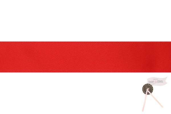 Satinband doppelseitig rot, verschiedene Breiten