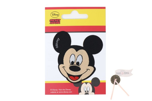 Applikation Mickey-Mouse-Kopf, 7cm