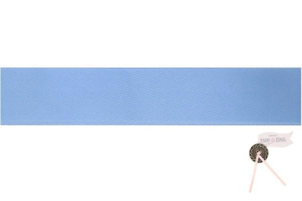 Satinband doppelseitig hellblau, verschiedene Breiten