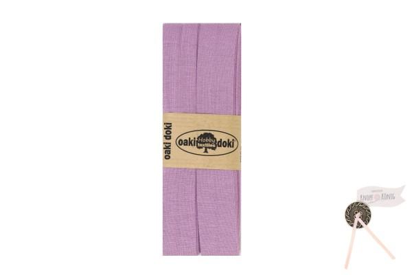 Jersey-Schrägband flieder, 3m