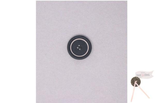 Damenknopf schwarz mit grauem Kreis