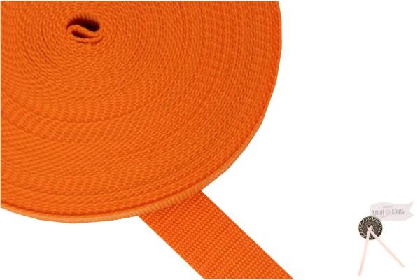 Gurtband Nylon orange, 30mm