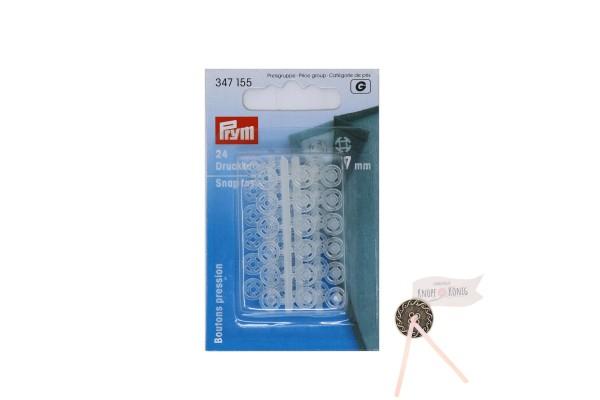 Druckknöpfe zum Annähen aus Plastik 7mm, 24 Stück