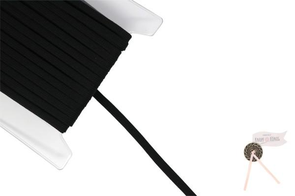 Flachkordel schwarz, 10mm