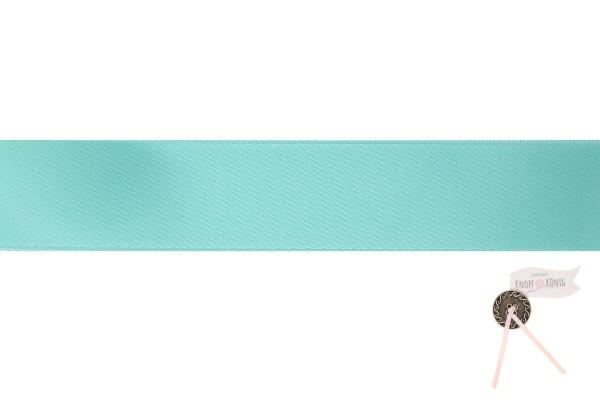 Satinband doppelseitig türkis, verschiedene Breiten