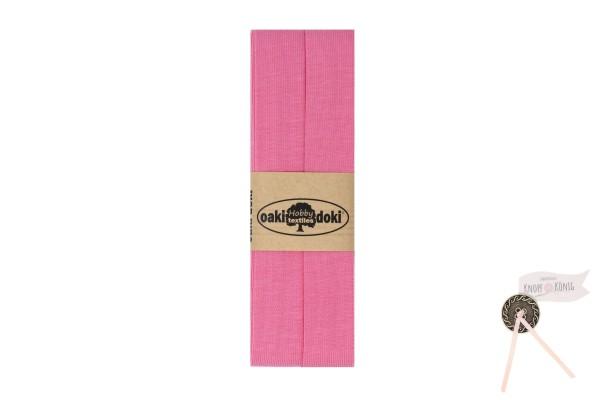 Jersey-Schrägband rosa, 3m