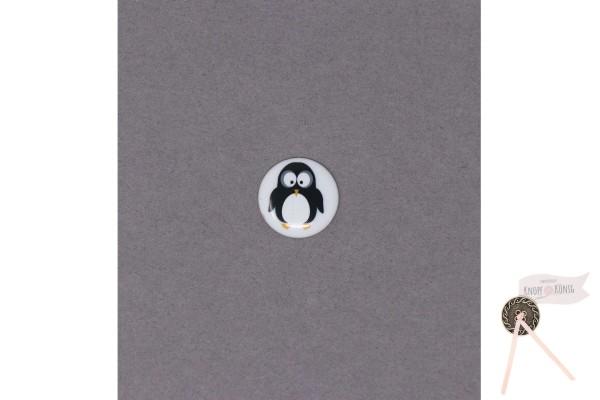 Kinderknopf Pinguin weiß