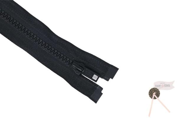 Jackenzipp Dekor schwarz, Kunststoff 6mm