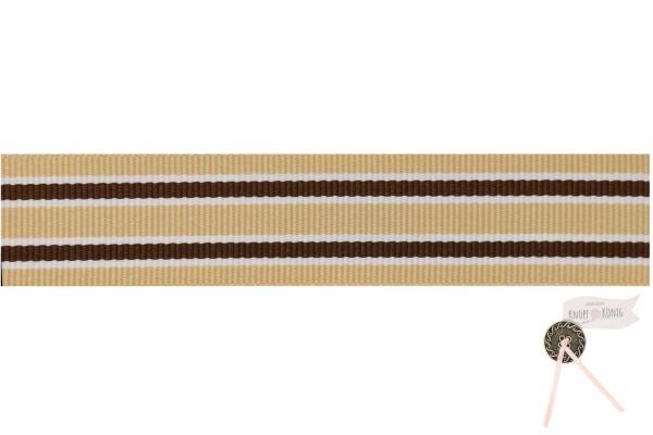 Ripsband Grimsey beige, 25mm
