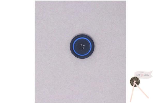 Damenknopf schwarz mit blauem Kreis
