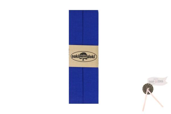 Jersey-Schrägband royalblau, 3m