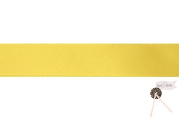 Satinband doppelseitig gelb, verschiedene Breiten