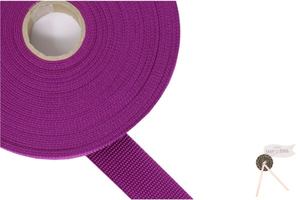 Gurtband Nylon violett, 30mm