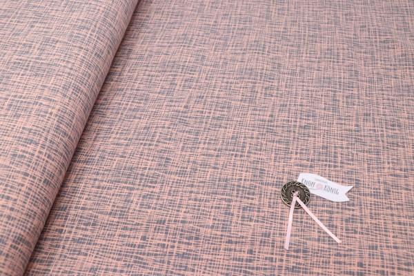 Jerseystoff hellrosa mit grauen Strichen
