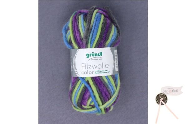 Filzwolle color, lila-grün multicolor
