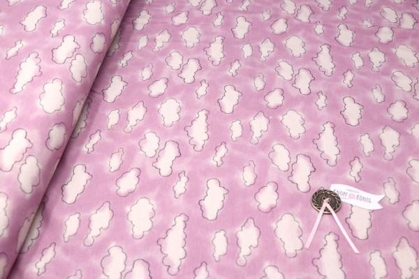 Jerseystoff Wolken rosa