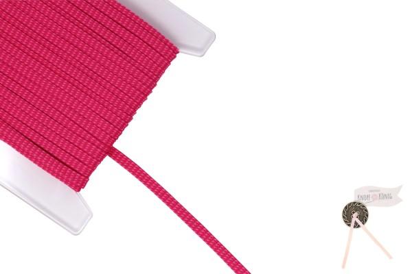 Flachkordel pink meliert, 10mm