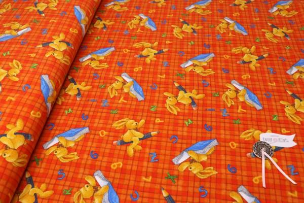 Baumwoll-Jersey Hase Felix orange