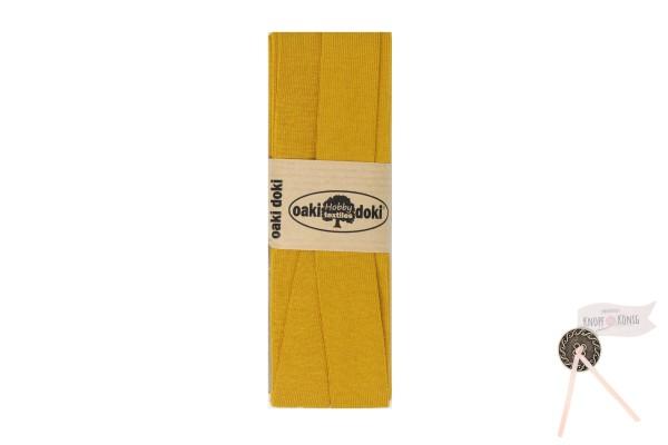 Jersey-Schrägband senf, 3m