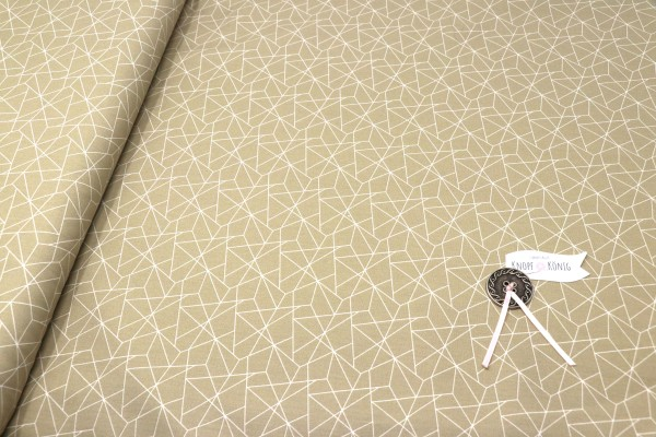 Baumwollstoff beige, Mosaik