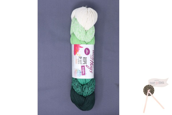 Woolly Hugs, Rope Plait grün