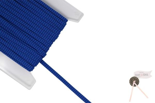 Flachkordel blau meliert, 10mm