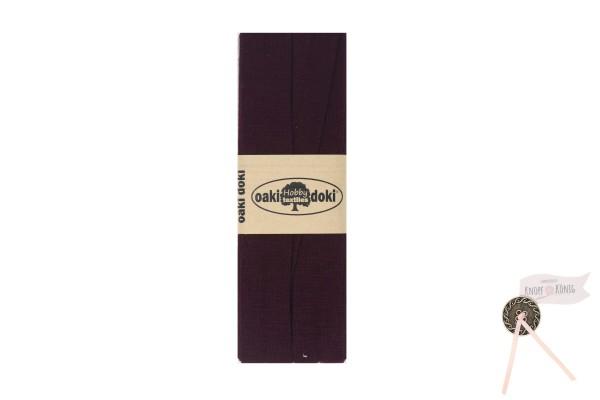 Jersey-Schrägband aubergine, 3m