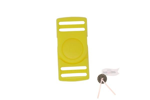 Steckschnalle gelb, 25mm drehbar