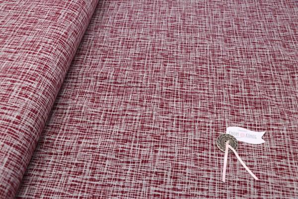Jerseystoff rot mit grauen Strichen