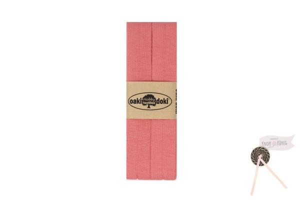 Jersey-Schrägband pfirsich, 3m