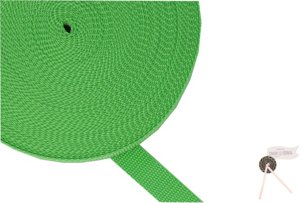 Gurtband Nylon grün, 20mm