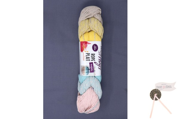 Woolly Hugs, Rope Plait pastell color