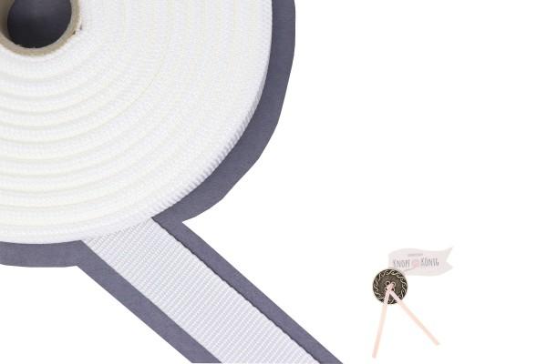 Gurtband Nylon weiß