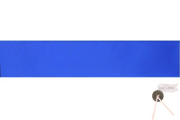 Satinband doppelseitig blitzblau, verschiedene Breiten