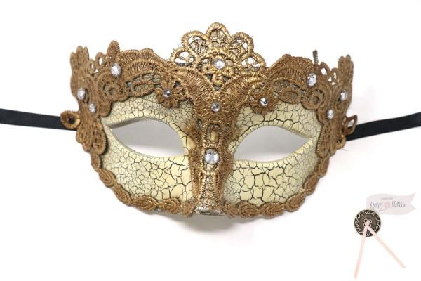 echte venezianische Maske, Goldregen