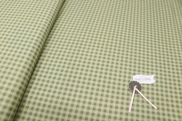 Karierter Baumwolldruck grün