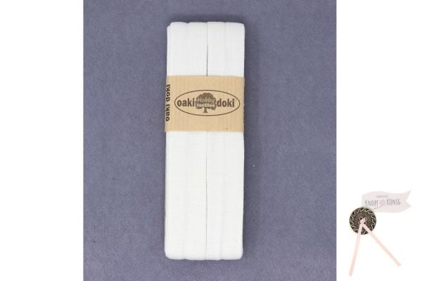 Jersey-Schrägband weiß, 3m