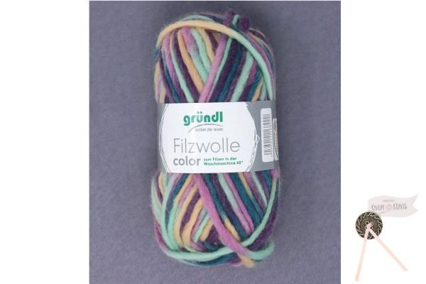 Filzwolle color, rose-grün multicolor