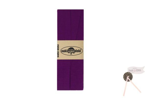 Jersey-Schrägband violett, 3m
