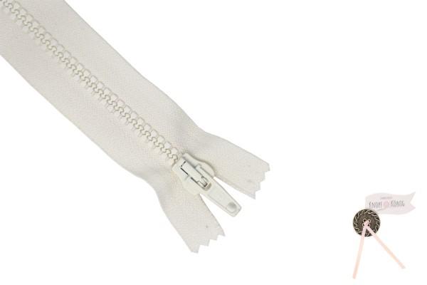 Jackenzipp Dekor creme, Kunststoff 6mm