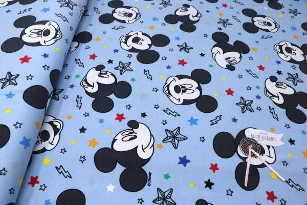 Baumwoll-Jersey Mickey Mouse hellblau