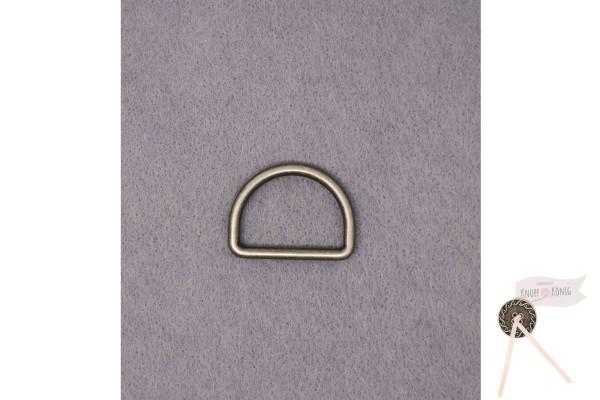D-Ring schwarz, in sechs Größen