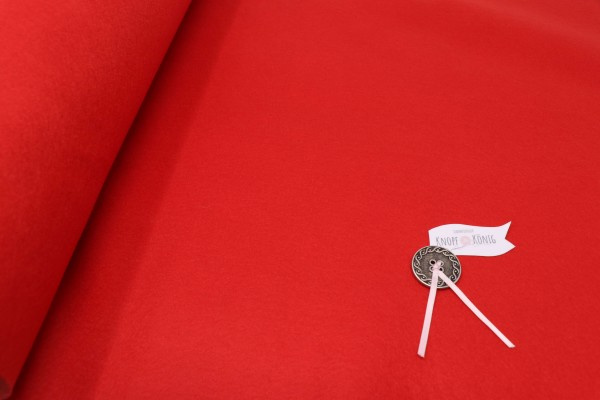 Bastelfilz Meterware rot, 45cm breit