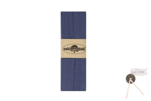 Jersey-Schrägband graublau, 3m
