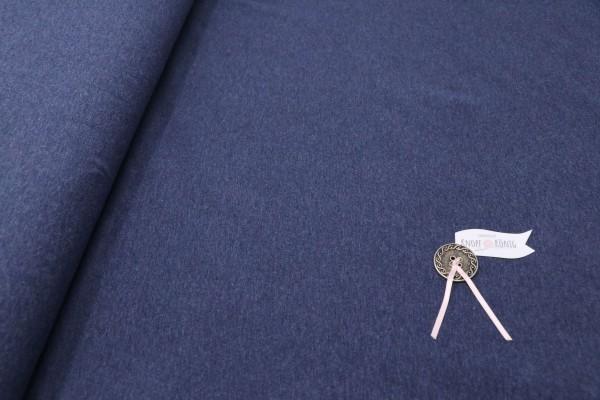Baumwoll-Jersey blau meliert