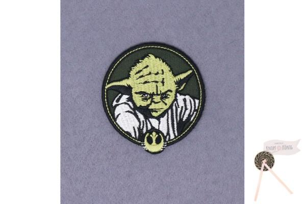 Applikation Star Wars Yoda rund, zum Aufbügeln, 6,5cm