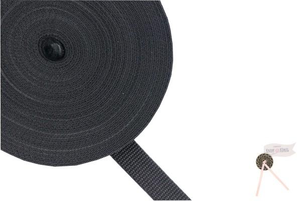Gurtband Nylon schwarz