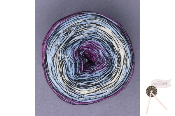 Bobbel Cotton Mirror, violett-blau